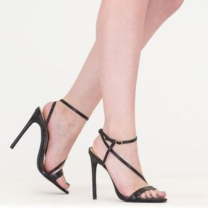 New & Unused Strappy Caged Heels in Black